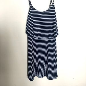 American Eagle Navy & White Stripe Summer Dress XS